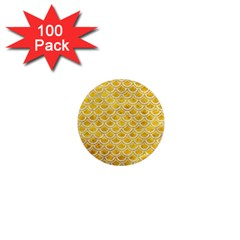 Scales2 White Marble & Yellow Marble 1  Mini Magnets (100 Pack)  by trendistuff