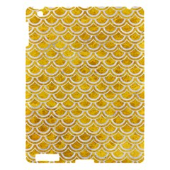 Scales2 White Marble & Yellow Marble Apple Ipad 3/4 Hardshell Case by trendistuff