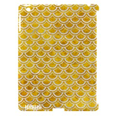 Scales2 White Marble & Yellow Marble Apple Ipad 3/4 Hardshell Case (compatible With Smart Cover) by trendistuff