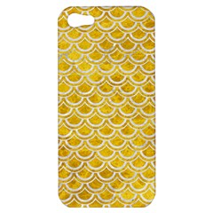 Scales2 White Marble & Yellow Marble Apple Iphone 5 Hardshell Case by trendistuff