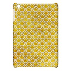 Scales2 White Marble & Yellow Marble Apple Ipad Mini Hardshell Case by trendistuff