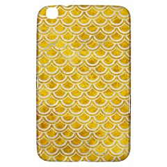 Scales2 White Marble & Yellow Marble Samsung Galaxy Tab 3 (8 ) T3100 Hardshell Case  by trendistuff