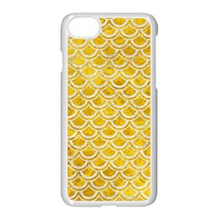 Scales2 White Marble & Yellow Marble Apple Iphone 8 Seamless Case (white)