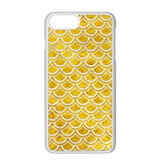Scales2 White Marble & Yellow Marble Apple Iphone 8 Plus Seamless Case (white)