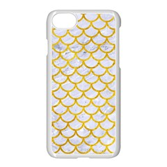 Scales1 White Marble & Yellow Marble (r) Apple Iphone 7 Seamless Case (white) by trendistuff