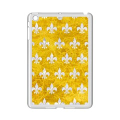 Royal1 White Marble & Yellow Marble (r) Ipad Mini 2 Enamel Coated Cases by trendistuff