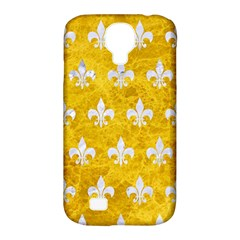 Royal1 White Marble & Yellow Marble (r) Samsung Galaxy S4 Classic Hardshell Case (pc+silicone) by trendistuff
