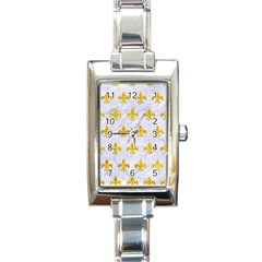 Royal1 White Marble & Yellow Marble Rectangle Italian Charm Watch by trendistuff