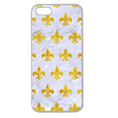 Royal1 White Marble & Yellow Marble Apple Seamless Iphone 5 Case (clear) by trendistuff