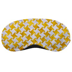 Houndstooth2 White Marble & Yellow Marble Sleeping Masks by trendistuff