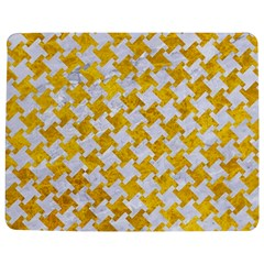 Houndstooth2 White Marble & Yellow Marble Jigsaw Puzzle Photo Stand (rectangular) by trendistuff
