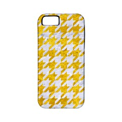 Houndstooth1 White Marble & Yellow Marble Apple Iphone 5 Classic Hardshell Case (pc+silicone) by trendistuff