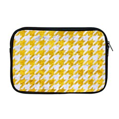 Houndstooth1 White Marble & Yellow Marble Apple Macbook Pro 17  Zipper Case by trendistuff