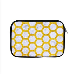 Hexagon2 White Marble & Yellow Marble (r) Apple Macbook Pro 15  Zipper Case by trendistuff