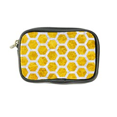 Hexagon2 White Marble & Yellow Marble Coin Purse by trendistuff