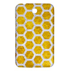 Hexagon2 White Marble & Yellow Marble Samsung Galaxy Tab 3 (7 ) P3200 Hardshell Case  by trendistuff
