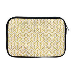 Hexagon1 White Marble & Yellow Marble (r) Apple Macbook Pro 17  Zipper Case by trendistuff