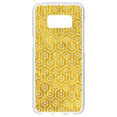 Hexagon1 White Marble & Yellow Marble Samsung Galaxy S8 White Seamless Case by trendistuff