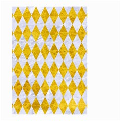 Diamond1 White Marble & Yellow Marble Small Garden Flag (two Sides) by trendistuff