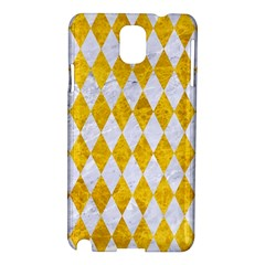 Diamond1 White Marble & Yellow Marble Samsung Galaxy Note 3 N9005 Hardshell Case by trendistuff