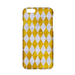 Diamond1 White Marble & Yellow Marble Apple Iphone 6/6s Hardshell Case by trendistuff