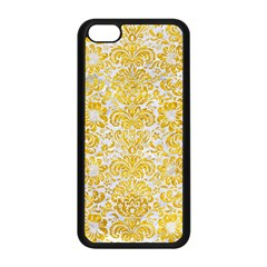 Damask2 White Marble & Yellow Marble (r) Apple Iphone 5c Seamless Case (black) by trendistuff