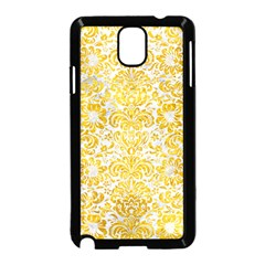Damask2 White Marble & Yellow Marble (r) Samsung Galaxy Note 3 Neo Hardshell Case (black) by trendistuff
