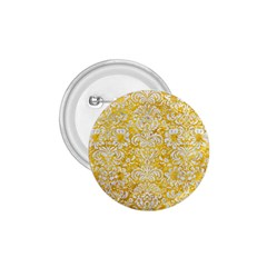 Damask2 White Marble & Yellow Marble 1 75  Buttons by trendistuff