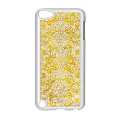Damask2 White Marble & Yellow Marble Apple Ipod Touch 5 Case (white) by trendistuff