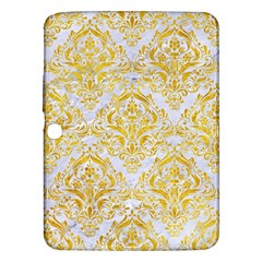 Damask1 White Marble & Yellow Marble (r) Samsung Galaxy Tab 3 (10 1 ) P5200 Hardshell Case  by trendistuff