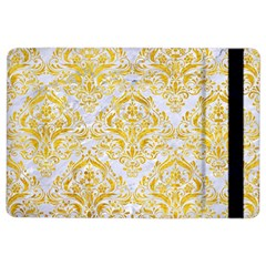Damask1 White Marble & Yellow Marble (r) Ipad Air 2 Flip by trendistuff