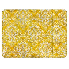 Damask1 White Marble & Yellow Marble Samsung Galaxy Tab 7  P1000 Flip Case by trendistuff