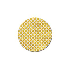 Circles3 White Marble & Yellow Marble (r) Golf Ball Marker (4 Pack) by trendistuff