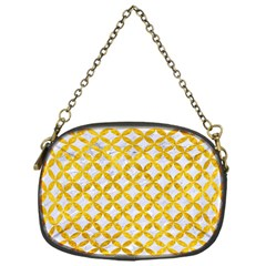 Circles3 White Marble & Yellow Marble (r) Chain Purses (one Side)  by trendistuff