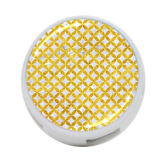 Circles3 White Marble & Yellow Marble (r) 4 Port Usb Hub (two Sides)  by trendistuff