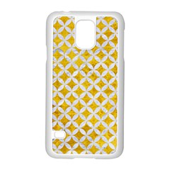 Circles3 White Marble & Yellow Marble Samsung Galaxy S5 Case (white) by trendistuff