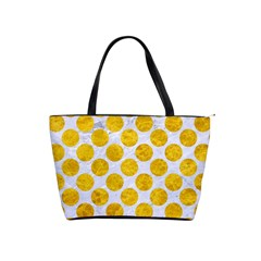 Circles2 White Marble & Yellow Marble (r) Shoulder Handbags by trendistuff