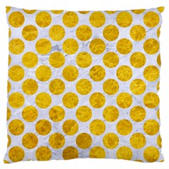 Circles2 White Marble & Yellow Marble (r) Standard Flano Cushion Case (one Side) by trendistuff