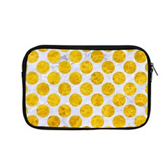 Circles2 White Marble & Yellow Marble (r) Apple Macbook Pro 13  Zipper Case