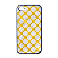 Circles2 White Marble & Yellow Marble Apple Iphone 4 Case (black) by trendistuff