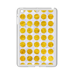 Circles1 White Marble & Yellow Marble (r) Ipad Mini 2 Enamel Coated Cases