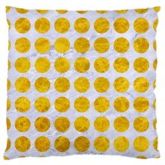 Circles1 White Marble & Yellow Marble (r) Standard Flano Cushion Case (one Side) by trendistuff