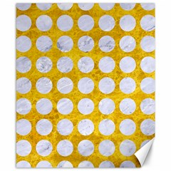 Circles1 White Marble & Yellow Marble Canvas 8  X 10  by trendistuff