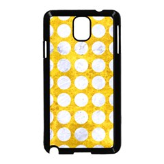 Circles1 White Marble & Yellow Marble Samsung Galaxy Note 3 Neo Hardshell Case (black) by trendistuff
