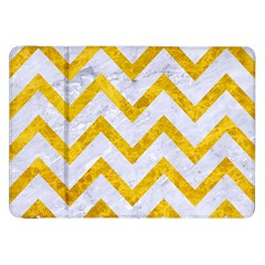 Chevron9 White Marble & Yellow Marble (r) Samsung Galaxy Tab 8 9  P7300 Flip Case