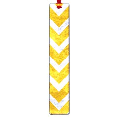 Chevron9 White Marble & Yellow Marble Large Book Marks by trendistuff