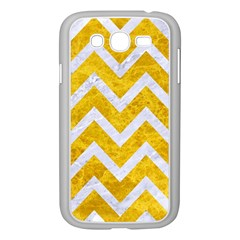 Chevron9 White Marble & Yellow Marble Samsung Galaxy Grand Duos I9082 Case (white) by trendistuff