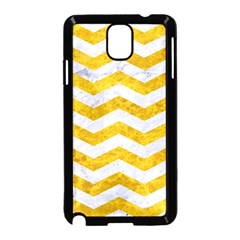 Chevron3 White Marble & Yellow Marble Samsung Galaxy Note 3 Neo Hardshell Case (black) by trendistuff
