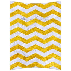 Chevron3 White Marble & Yellow Marble Back Support Cushion