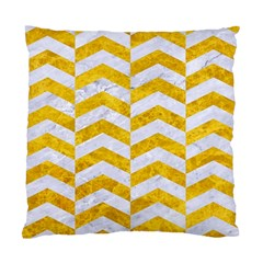 Chevron2 White Marble & Yellow Marble Standard Cushion Case (one Side) by trendistuff